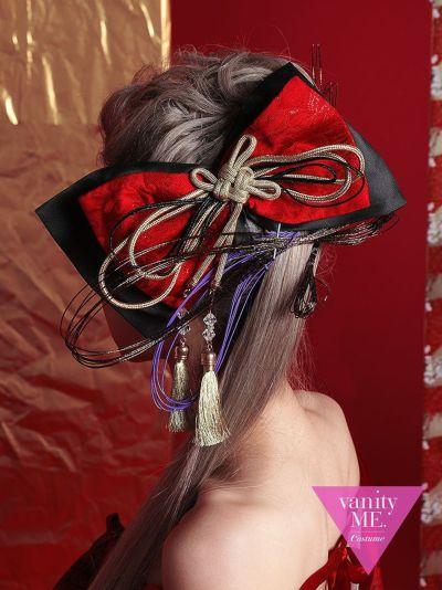 花魁 RIBBON 黒×赤